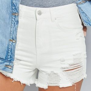 JOE'S White Jean Shorts 🐚
